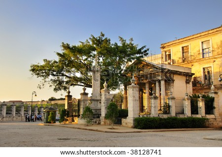 "A view of popular place ""El Templete"" in cuban tradition, old havana - stock photo"