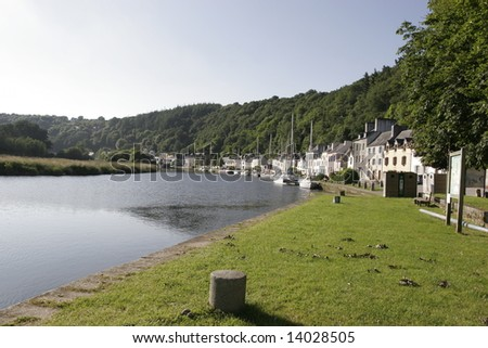 a view of riverside in brittany