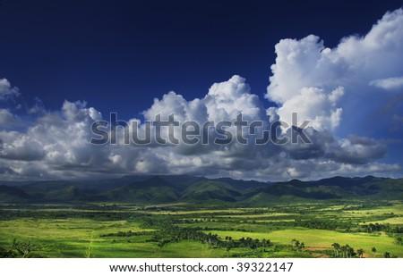A view of Sierra del Escambray landscape in trinidad, Cuba - stock photo