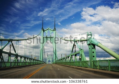 A View of st Johns historic bridge - stock photo