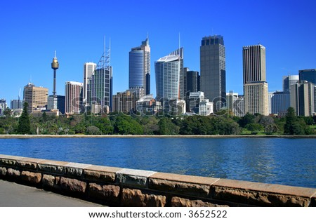 A view of Sydney's skyline from the Royal Botanical Garden