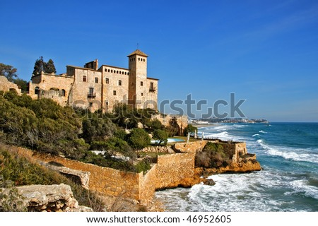 a view of Tamarit Castle, in Tarragona, Spain