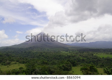 A view of the active volcano Arenal in Costa Rica - stock photo