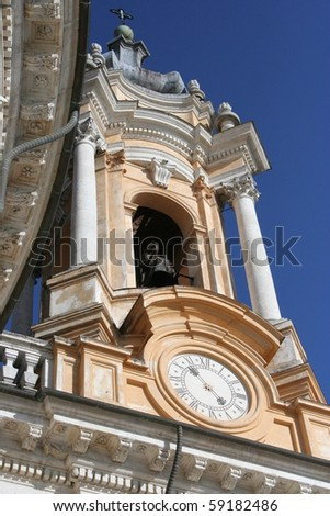 A View of the Basilica of Superga (Turin, Italy) - stock photo