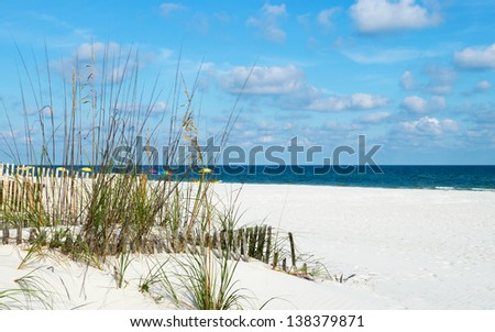 A view of the beach on the Alabama Gulf coast.