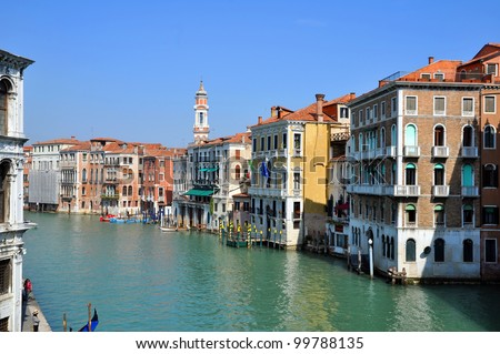 A view of the Canal Grande - Venezia - Italy - stock photo