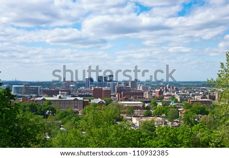 A view of the city of Birmingham AL. - stock photo