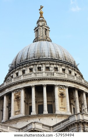 A view of the dome of St Paul's Cathedral in London