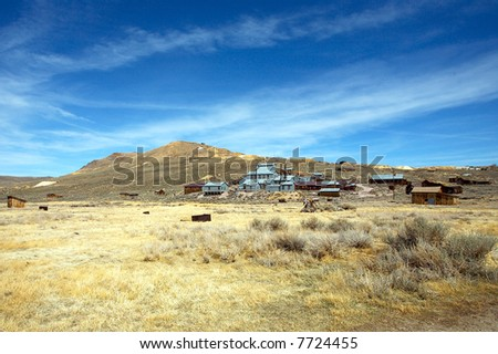 A view of the ghost town Bodie, California