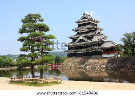 A view of the Matsumoto castle in Matsumoto, Japan - stock photo