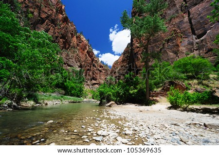 A view of the Narrows - stock photo