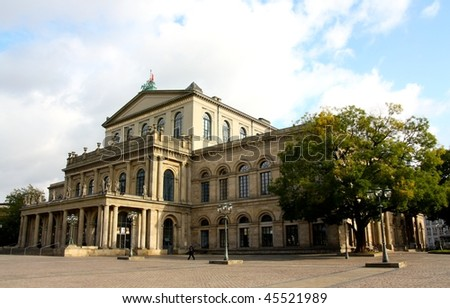 A view of the Opera House in Hanover, Germany - stock photo