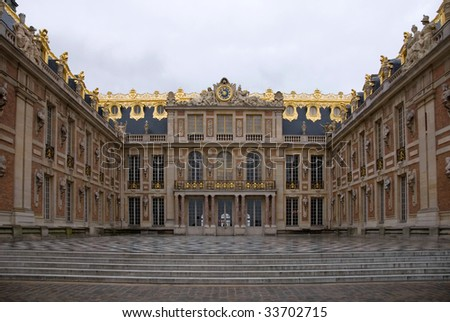 A view of the Palace of Versailles, France - stock photo