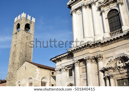 A view of the Piazza del Duomo and medieval Brescia