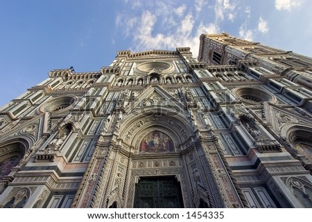 A view of the Santa Maria del Fiore Cathedral in Florence, Italy - stock photo