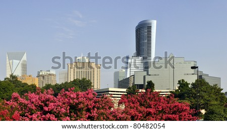 A view of the skyline of Buckhead, the uptown section of Atlanta, Georgia.