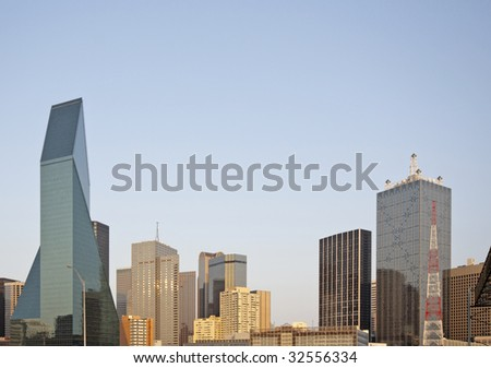A view of the skyline of Dallas Texas