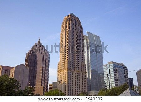 A view of the skyline of Midtown Atlanta Georgia