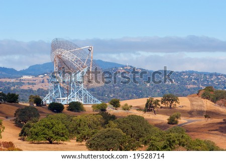 A view of the Stanford radio telescope, or 'dish' - stock photo