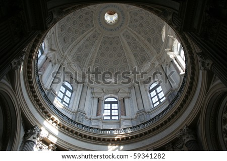 A View of the Superga Basilica Interior (Turin, Italy) - stock photo
