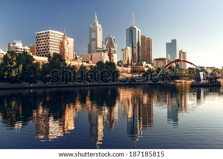 A view of the Yarra River, Melbourne, Victoria, Australia