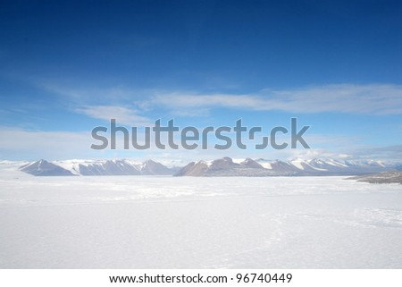 A view of Transantarctic Mountains