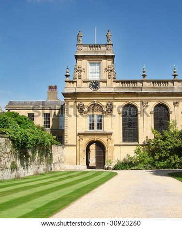 A view of Trinity College, Oxford University, UK - stock photo