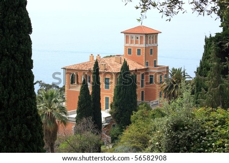 A view of Villa Hanbury, A famous botanic garden near Ventimiglia, Liguria, Italy - stock photo