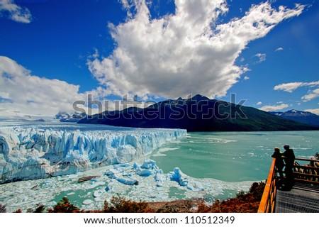 A view on Perito Moreno - stock photo