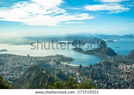 A view on Rio de Janeiro - stock photo