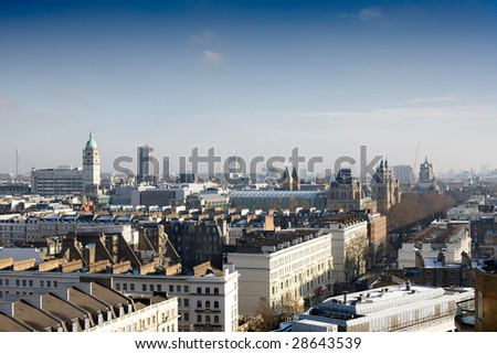 A View over london at dusk - stock photo