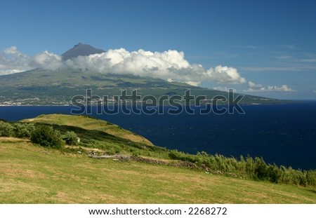 "A view over the ""Pico"" mountain - stock photo"