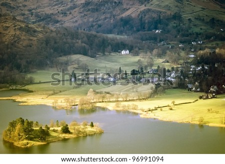 a view over the vallee du falgoux in the parc naturel regional des volcans d'auvergne in the french massif central, cantal, auvergne, france, europe - Les Roches Tuilière et Sanadoire - - stock photo