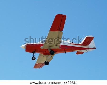 A Vintage Beagle Bulldog aircraft on final approach - stock photo