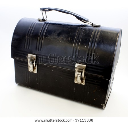 A Vintage Black Lunchbox - stock photo