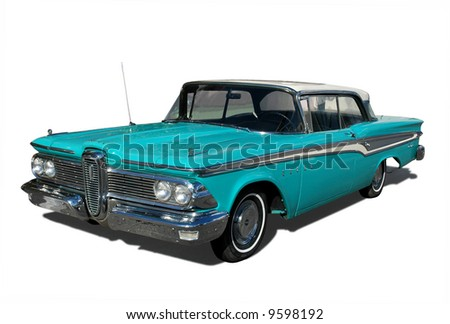 A vintage car - stock photo