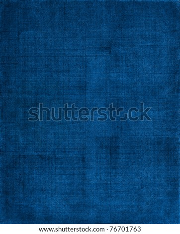 A vintage cloth book cover with a blue screen pattern and grunge background textures. - stock photo