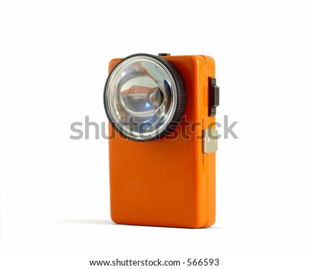 A vintage flashlight (Retro 02) - stock photo