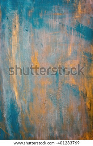 A vintage grunge wooden background with patina-like colors. - stock photo