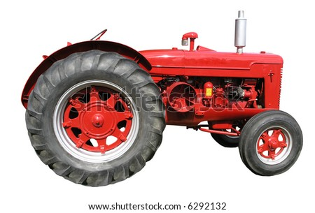 A vintage McCormick tractor