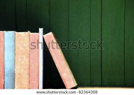 a vintage old book background - stock photo