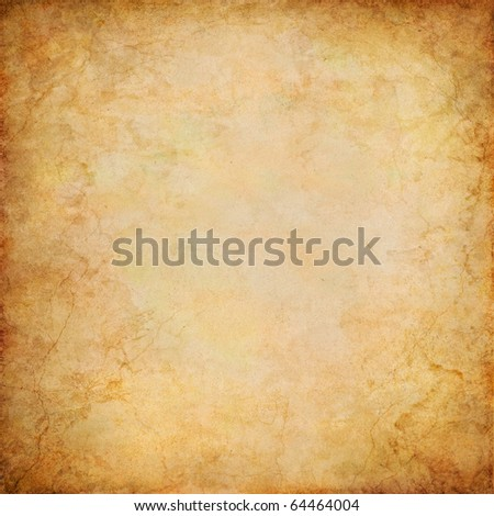 A vintage paper background with grunge patterns and textures. - stock photo