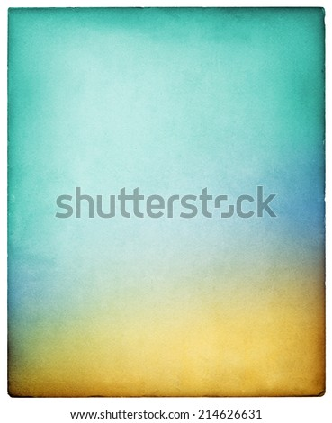 A vintage paper card background with multicolored gradients.  Image exhibits a strong paper grain and texture at 100 percent.  Large file size allows for easy cropping if desired. - stock photo