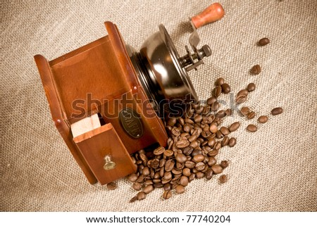a vintage photo of coffee mill - stock photo
