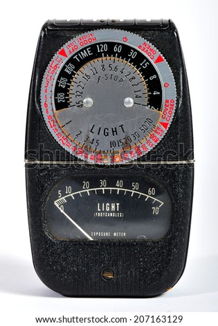 A vintage photographic light meter.