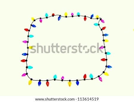 a vintage string of colourful christmas lights - stock photo
