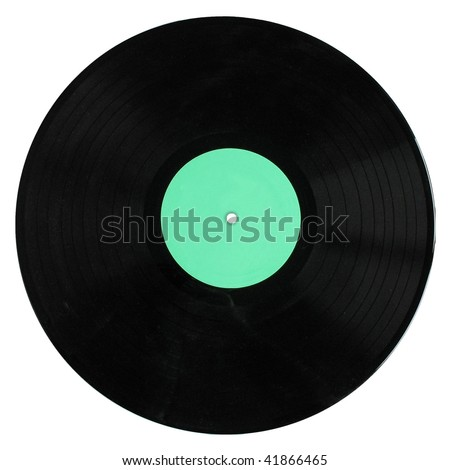 A vinyl record (music recording support) isolated on white