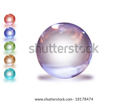 a violet sphere for web