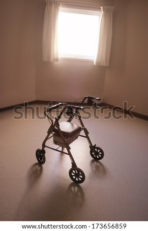 A Walker in a nursing home - stock photo