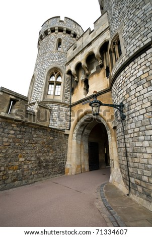 A walkway in Windsor Castle, England, Great Britain - stock photo